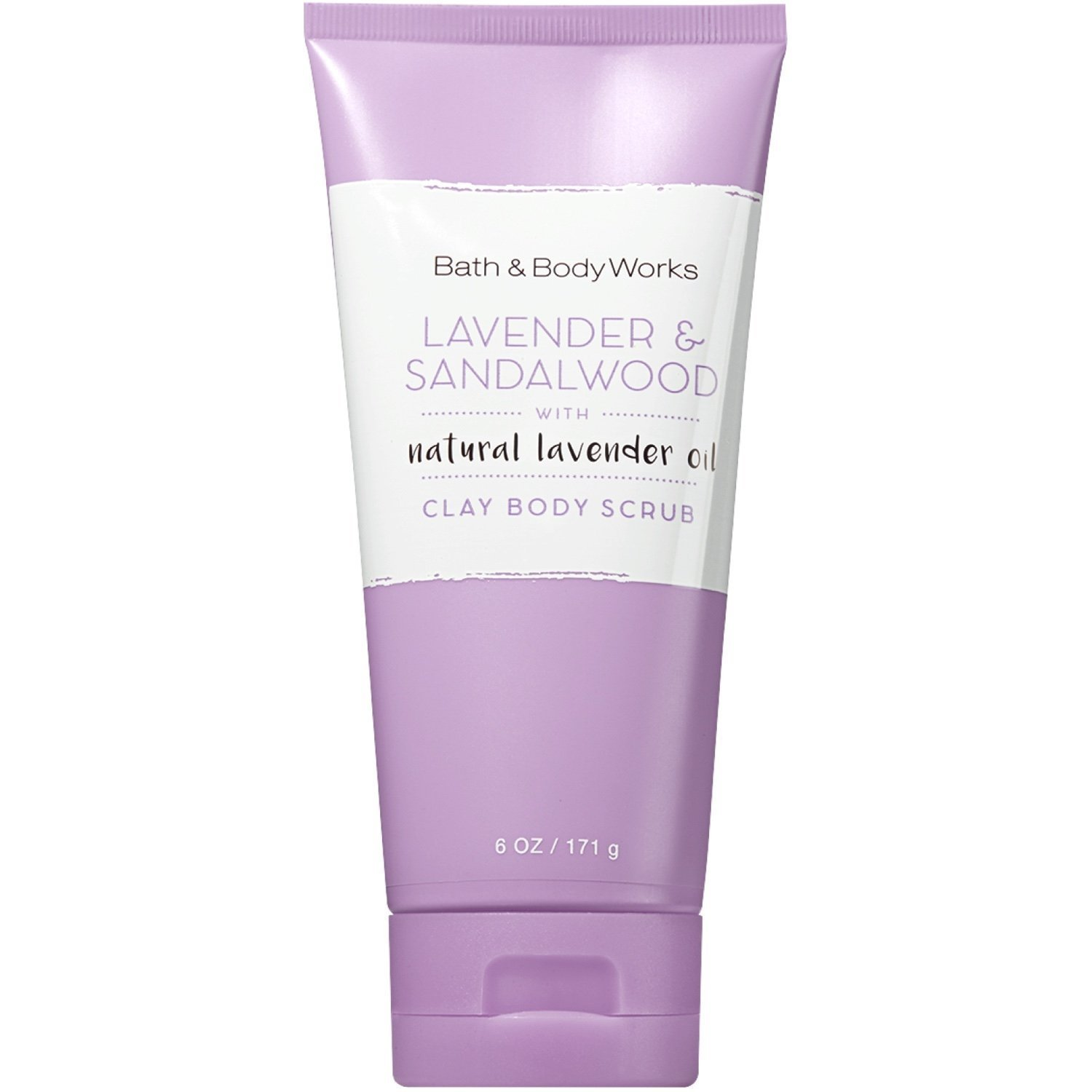 Bath and Body Works Signature Collection Clay Body Scrub with Natural Essential Oils (Lavender & Sandalwood)