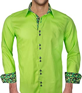 product image for Mens Light Green St Patricks Day Dress Shirt - Made in The USA