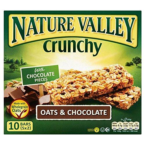 Nature Valley Barras De Granola Crujiente - Avena Y Chocolate (5X42g) (Paquete de 2): Amazon.es: Hogar