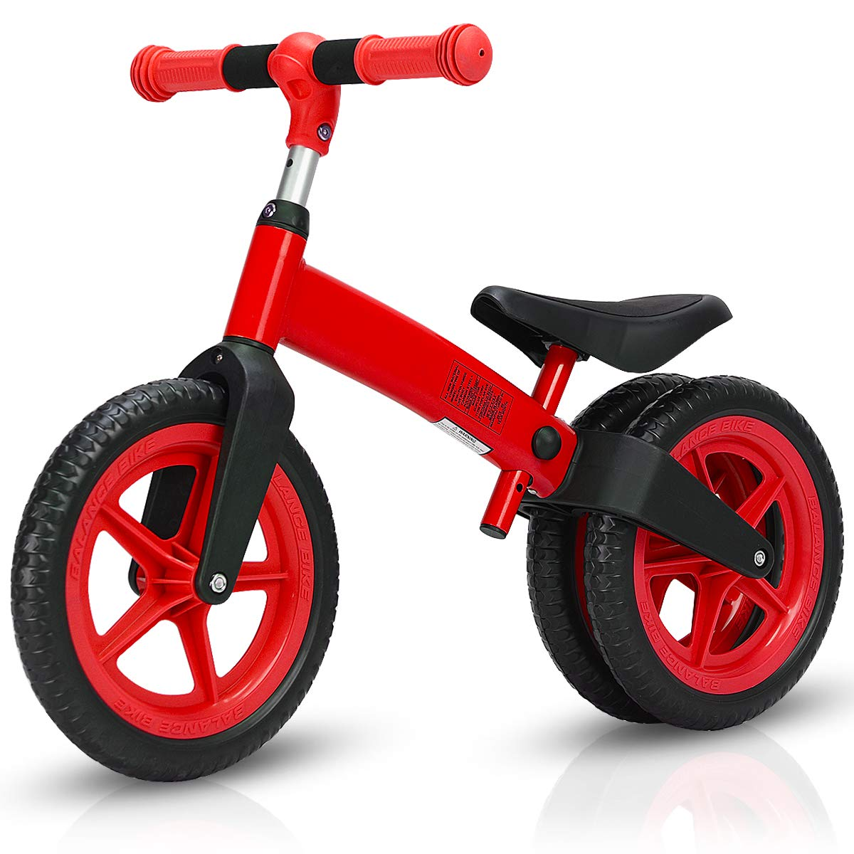 Costzon Kids Balance Bike, Classic Lightweight No-Pedal Learn to Ride Pre Bike w/Adjustable Handlebar & Seat Cycling Training for Kids and Toddlers, Walking Bicycle (Red)