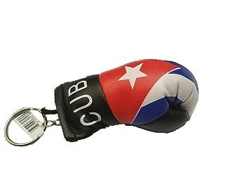 Bandera de Cuba Llavero Guantes de boxeo Mini llavero con ...