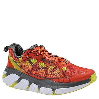 70fb8ad69e39 HOKA ONE ONE Men s Infinite Running Shoe Poppy Red Acid Size 9 M US   Amazon.co.uk  Shoes   Bags