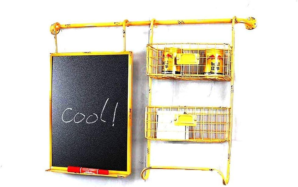 MYXMY Creativas de la Pared de Hierro Forjado Etiqueta Decoración de la Pizarra de Almacenamiento en Rack Inicio Crafts (Color : A)