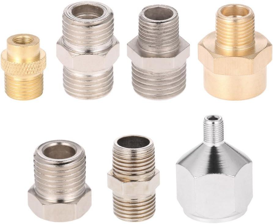 Vislone 7pcs profesional kit adaptador de conector de montaje del aerógrafo fijaron para el compresor y la manguera del aerógrafo