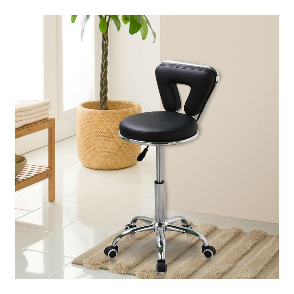 Rolling Nail Spa Chair Pedicure Manicure Nail Technician Facial Tattoo Stool