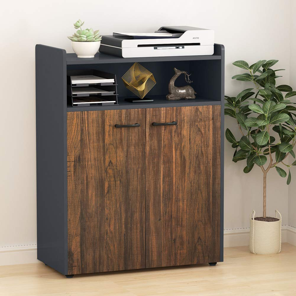 Tribesigns Office Storage Cabinet, Industrial Large Tall File Cabinet Printer Stand with Storage Shelves and Doors for Home Office by Tribesigns (Image #1)
