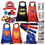 Superhero Capes for Kids   4 x Premium Complete Costumes   Great Gift Idea