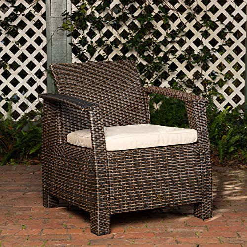 Patio Sense Bondi Deluxe Wicker Armchair