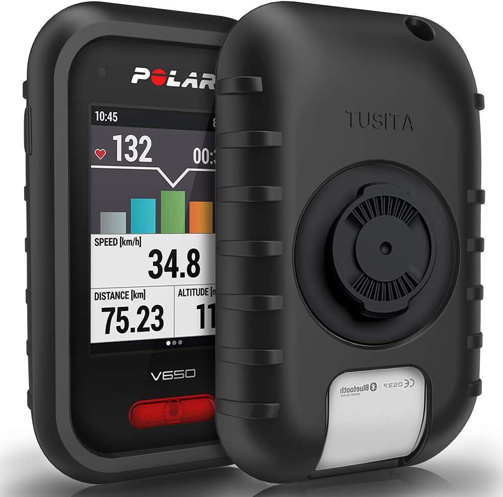 TUSITA Funda para Polar V650 - Protectora de Silicona Skin - Accesorios para computadora con GPS