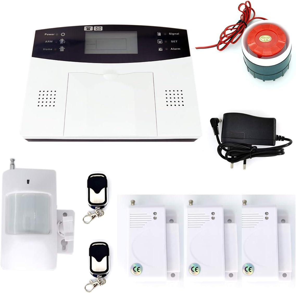 GSM Sistema de Alarma de Seguridad Antirrobo Con Pantalla T/áctil de 4.3 Pulgadas Alarma Antirrobo Inal/ámbrica WiFi Sistema Inteligente de Control Remoto de Aplicaciones EU GPRS