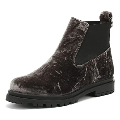 Shoe The Bear Akira Damen Dark Grau Velvet Stiefel: Amazon