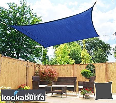Kookaburra Toldo Vela de Sombra Para Jardín - Transpirable - 3.6m Cuadrado Azul: Amazon.es: Jardín