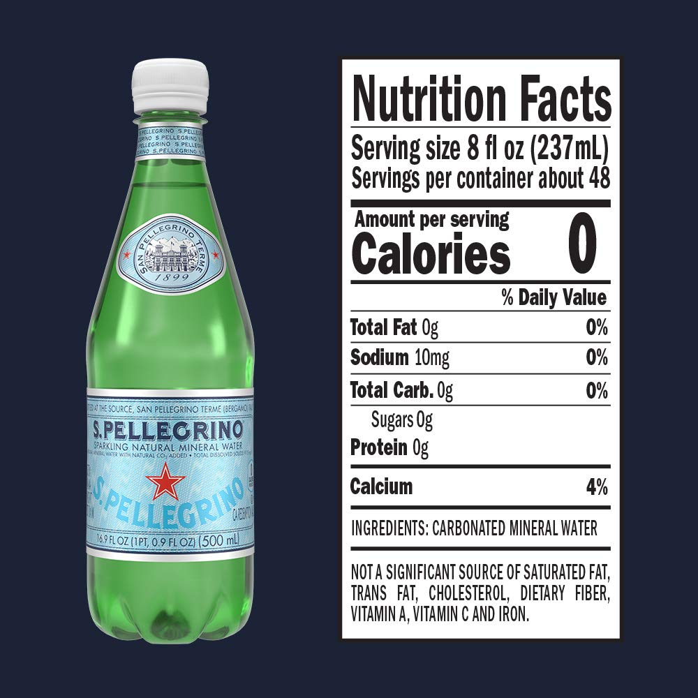S.Pellegrino Sparkling Natural Mineral Water, 16.9 fl oz. (24 Count) by San Pellegrino (Image #6)