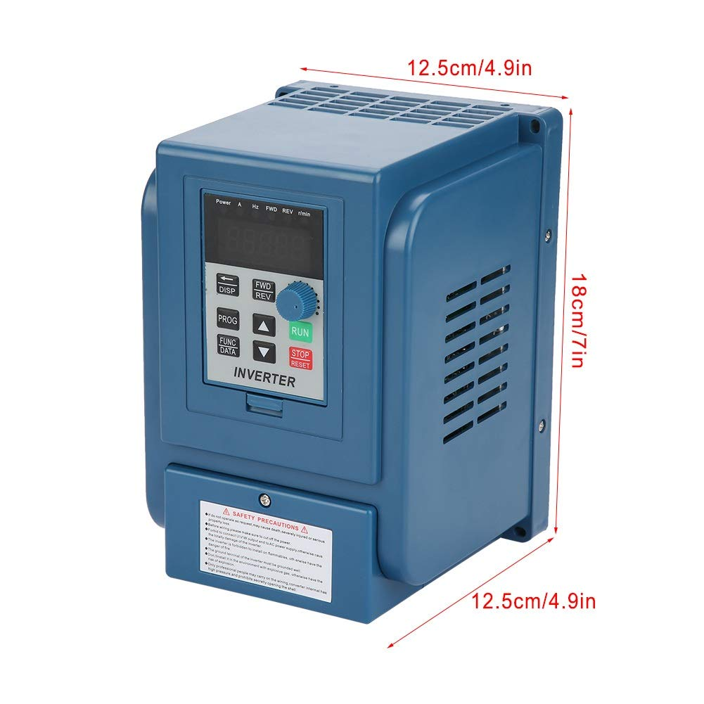 Variable Frequency Drive, Maxmartt 1PC AC 380V 1.5kW 4A Variable Frequency Drive VFD Closed Loop 3 Phase Speed Controller Inverter Motor,Blue by Maxmartt