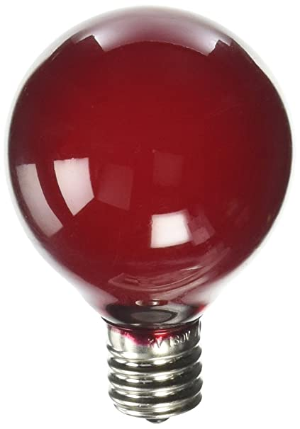 sival 40127 g40 candelabra screw base transparent red 25 pack christmas light bulbs