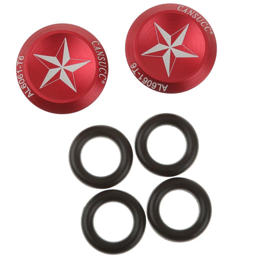 1 Par Manillar De Aleación De Aluminio Barra Conecta Rojo Vial Ciclismo De MTB Extremo De Agarre Generic