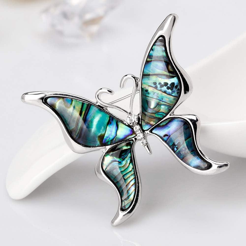 YAZILIND mar Concha Broche Mariposa Forma Rhinestone aleaci/ón Collar Pins Animales Ramillete joyer/ía para Mujeres