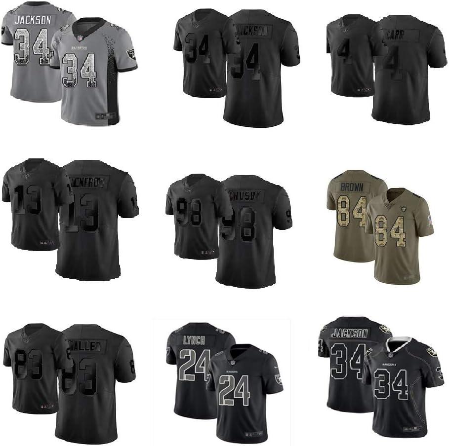 #34 Las Vegas Raiders American Football Jersey Bo Jackson Mitchell 34# Rugby Jersey MenS Women Fans Jerseys Sportswear T-Shirt Quick-Drying