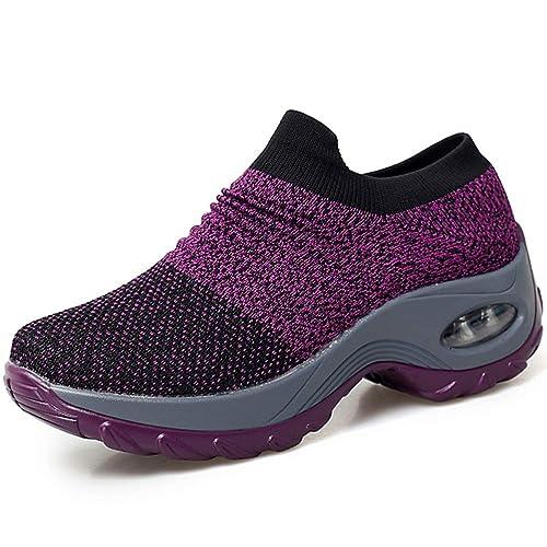 Amazon.com: STQ Slip On Breathe Malla Zapatos De Caminar De ...