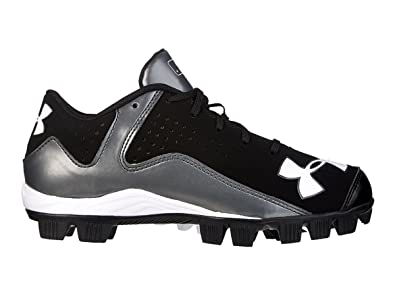 Under Armour Boy's Leadoff Low RM Baseball Cleats Black/Charcoal Size 4.5  ...