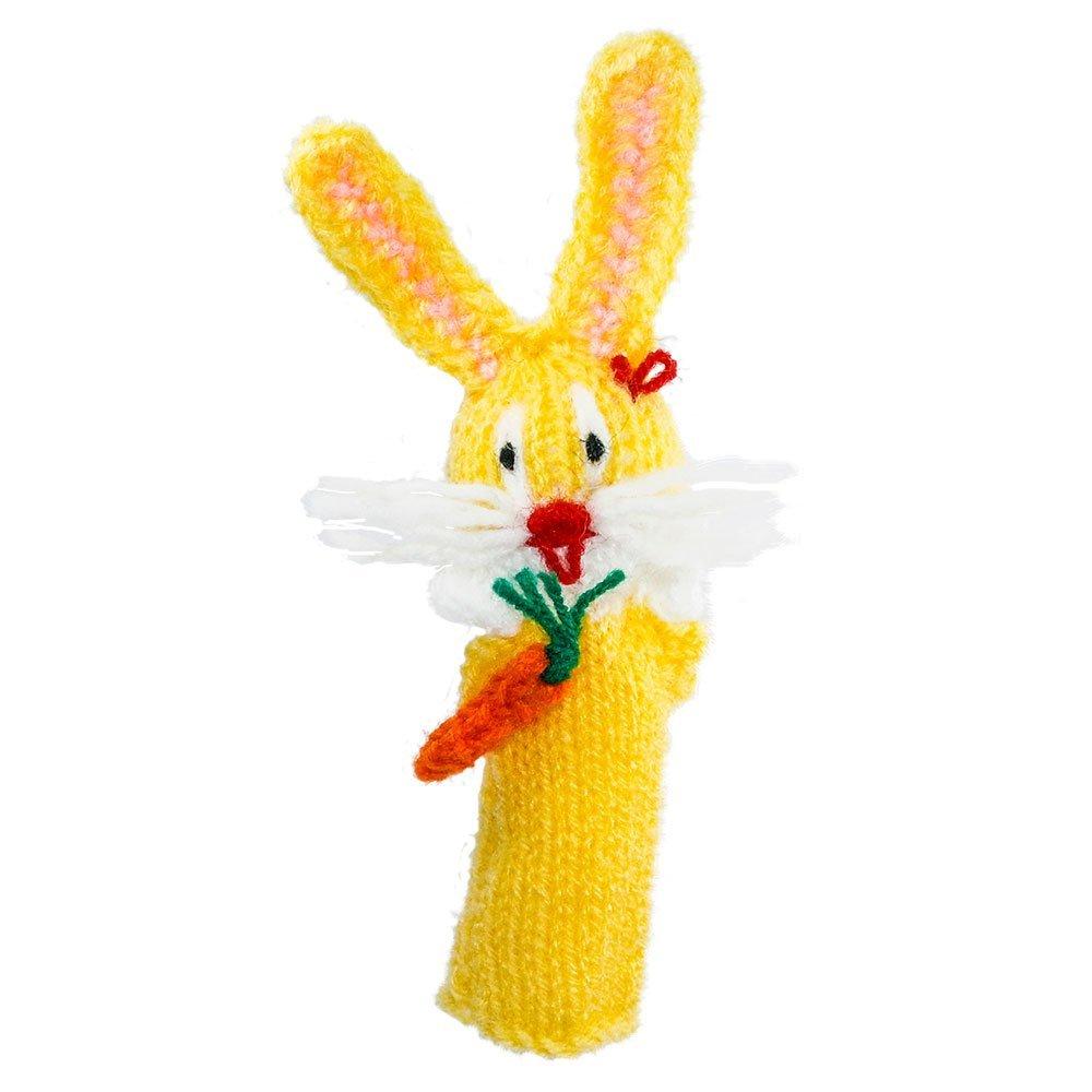 Fingerpuppe Hase Kasperltheater Spielzeug zum Spielen und Lernen handgestrickt aus weicher Wolle für Baby und Kinder Willy' s Manufaktur FP 8194 Cartoons & Comics