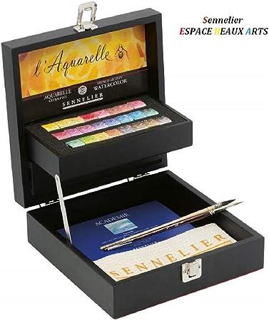 Sennelier Boite De Peinture Aquarelle Extra Fines 24 Demi Godets