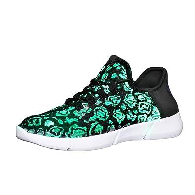 4394c8398cfbdf Idea Frames LED Laufschuhe Atmungsaktive Fabric Nacht Sportschuhe 7 Farben  Leuchtende Schuhe Damen Herren mit USB