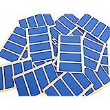 Minilabel - Etiquetas adhesivas rectangulares (50 x 20 mm, 80 unidades), color azul