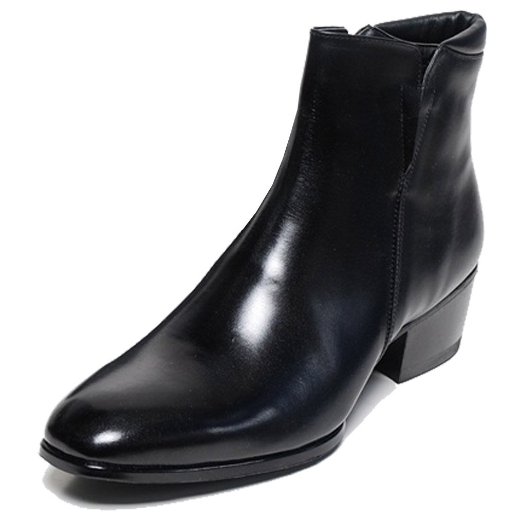 Epicsnob Mens Shoes Black Genuine Cow Leather Dress Formal Casual Classic Ankle Boots 9.5 M US