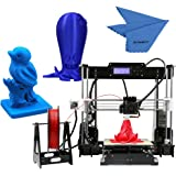 Anet A8 High Precision Desktop 3D Printer Kits Reprap i3 DIY Self Assembly with 8GB SD Card Aibecy Cleaning Cloth