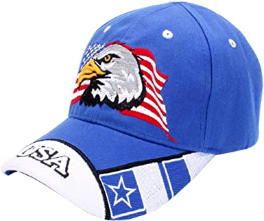 Mens Womens Trucker Hat The United States American Flag Eagle Snapback One Size Caps