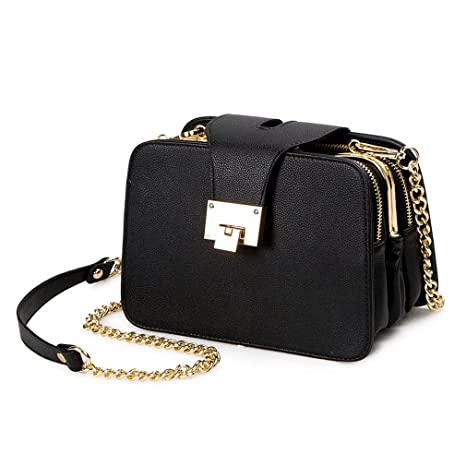 JCNKDS Spring Women Shoulder Bag Chain Strap Flap Handbags Clutch Bag  Ladies Messenger Bags with Metal 2abaa7f2069b6
