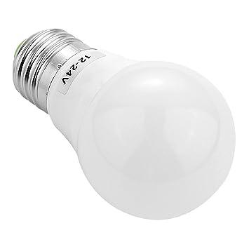 GHC LED Bombillas, E27 / E26 5730SMD 3W 6LED AC / DC 12-24V (5PCS) 200-300Lm Blanco cálido Cool White Super High Brillo LED Bulbo (Color : Warm White) : ...