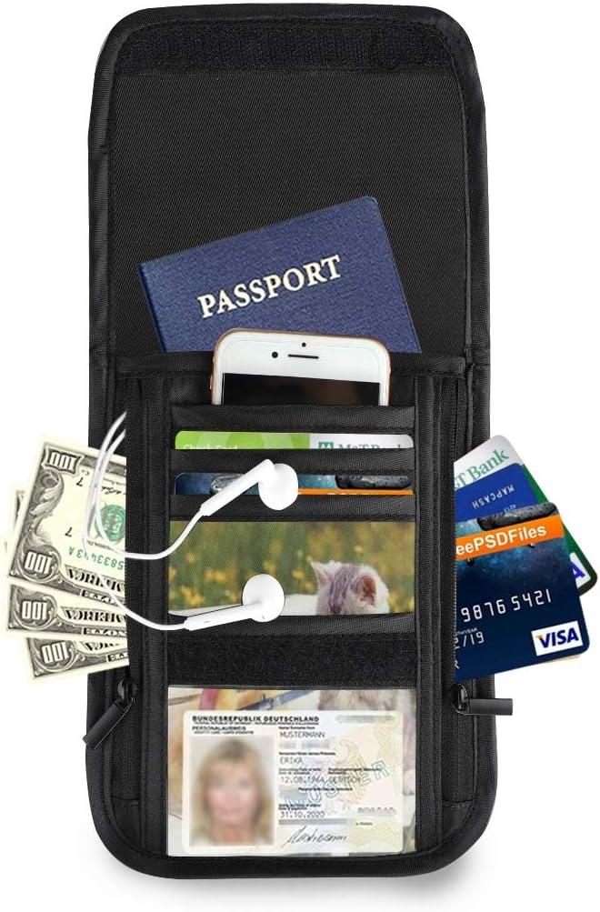 Giggling Girl Travel Passport /& Document Organizer Zipper Case