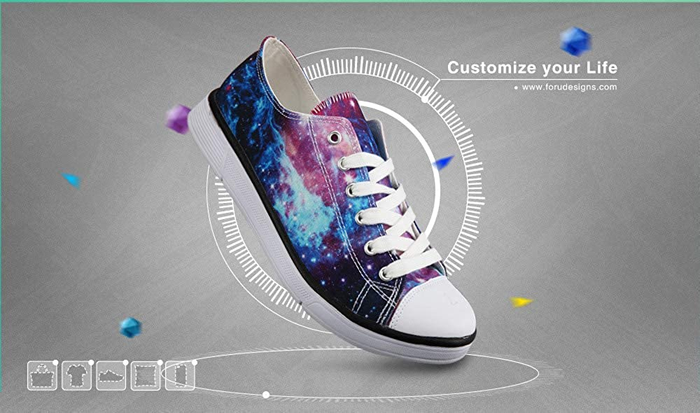 Fashion Original Style Printed Sneakers for Women Girls,Low Top Customize Pattern Summer Beach Shoes Lace Up Casual Canvas Shoes
