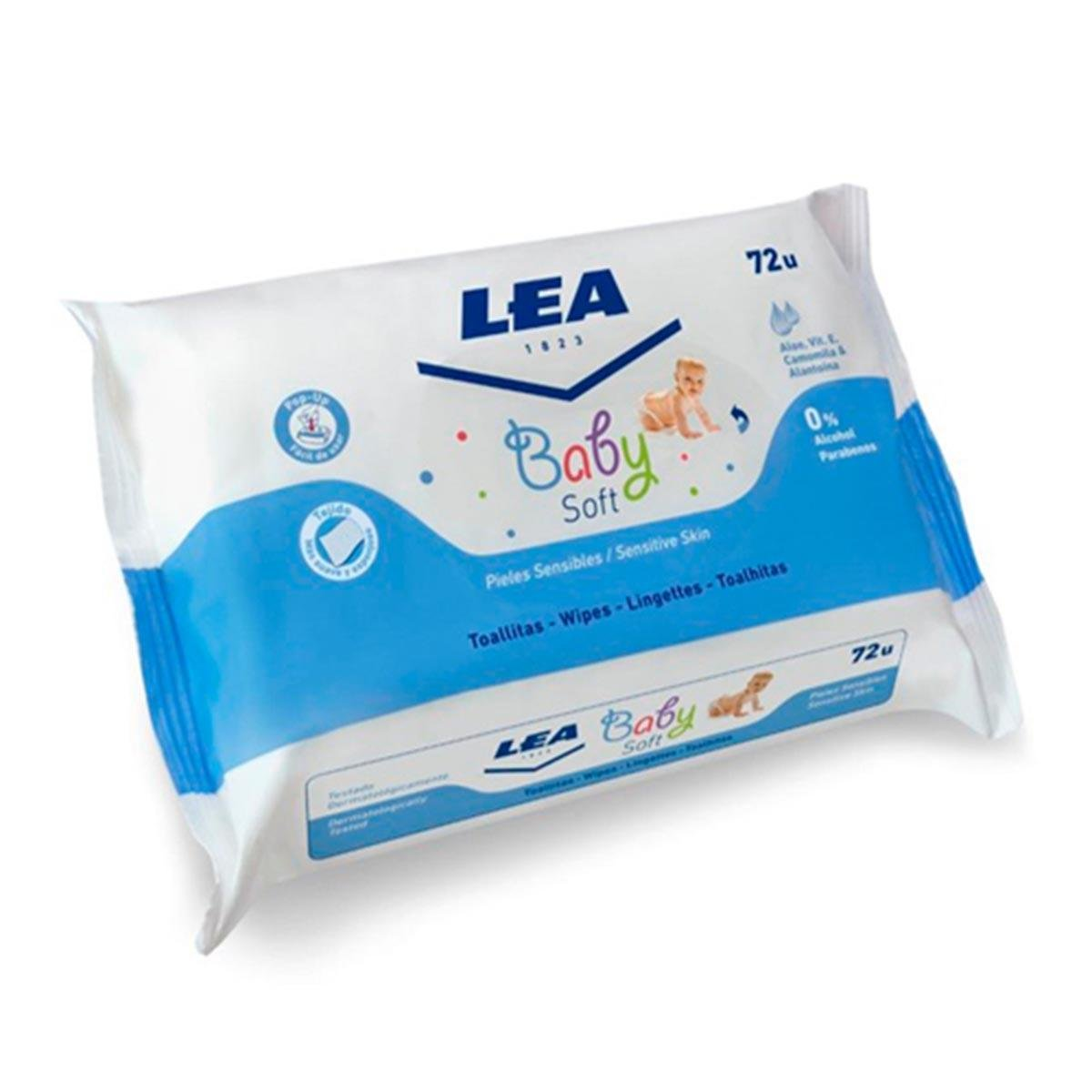 Amazon.com: Lea Baby Soft Toallitas Para Pieles Sensibles 72 Unidades: Beauty