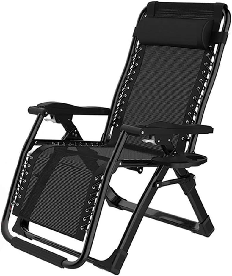 Gartenstuhl Sonnenliege Klappbar Relaxliege Liegestuhl Schwarz Strand 188cm DHL