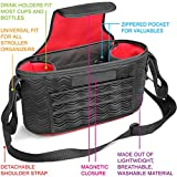 Universal Baby Stroller Organizer Bag 2 Zippered Pockets Many Compartments Two Deep Bottle Holders Magnetic Closure Best Stroller Organizer Detachable BONUS Shoulder Strap A MUST HAVE for Parents!