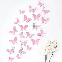 Mariposas 3D Wandkings de color ROSA con detalles