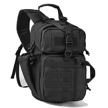 Tactical Sling Pack Military Assault Molle Hunting Range Shoulder Sling Bug  Out Bag Backpack Daypack 2668c08dfd2c4