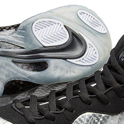 Nike Air Foamposite Pro Männer Basketballschuhe Metallisches Silber / Schwarz