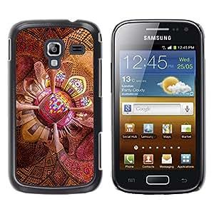 EJOY---Cubierta de la caja de protección la piel dura para el / Samsung Galaxy Ace 2 / --Techo psicodélico