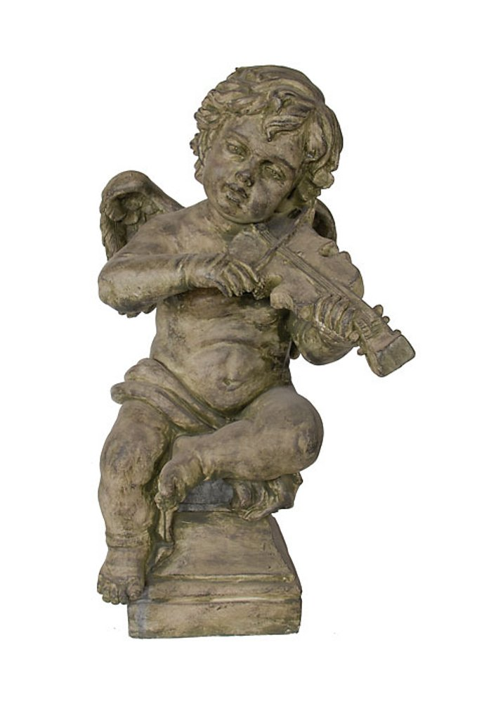 Timeless Reflections by AFD Home 10682771 Garden Cherub with Violin Statue