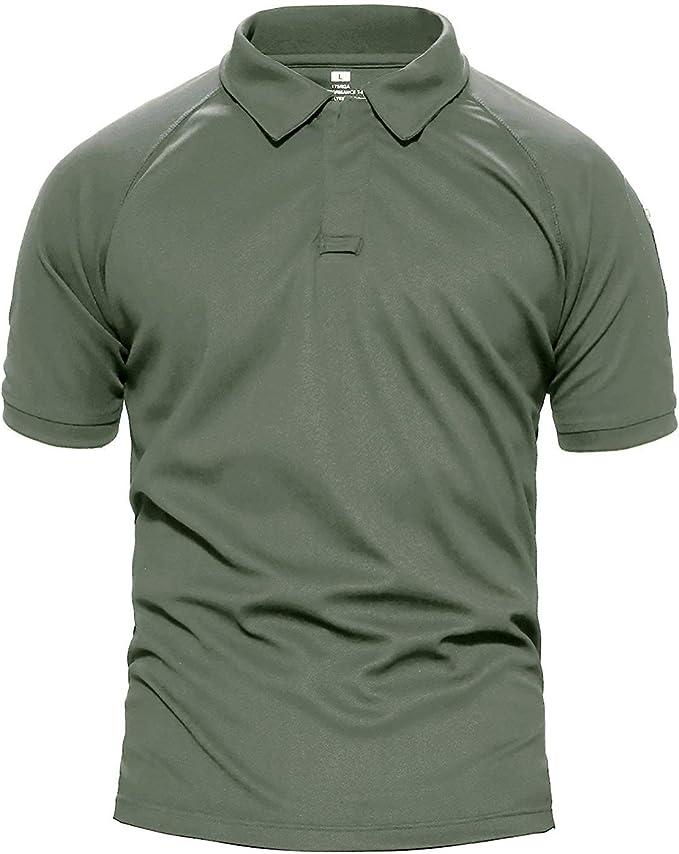 Camisa De Polo para Hombre Camisa Militar De Mode De Táctico ...