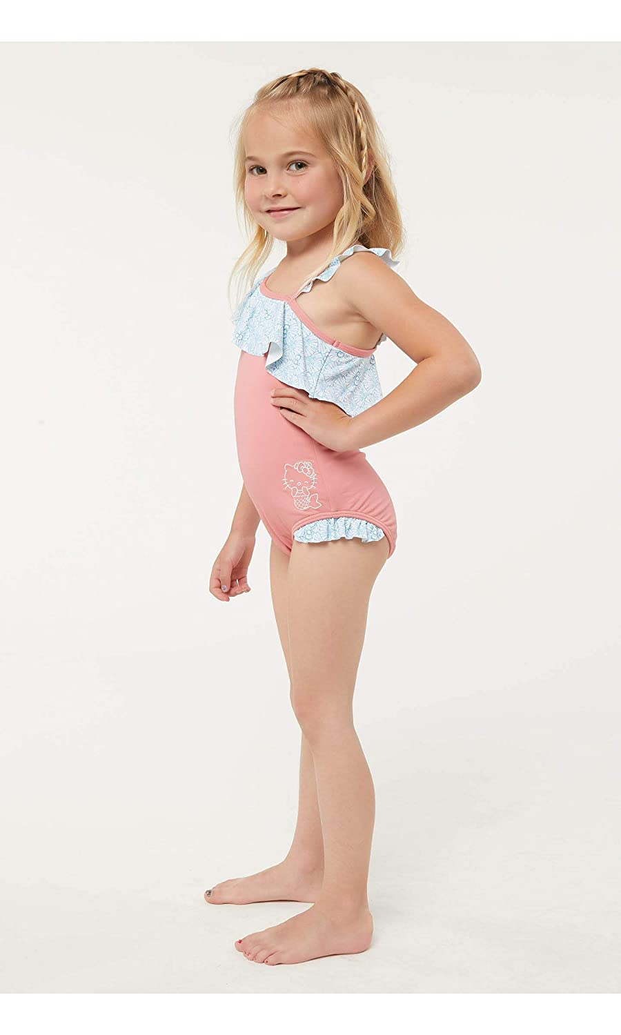 e8ea956074 Amazon.com: O'Neill Kids Womens Hello Kitty Shelly One-Piece Swimsuit  (Toddler/Little Kids): Clothing