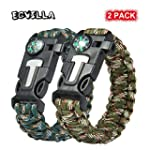 2 PACK Multifunctional Paracord Brace...