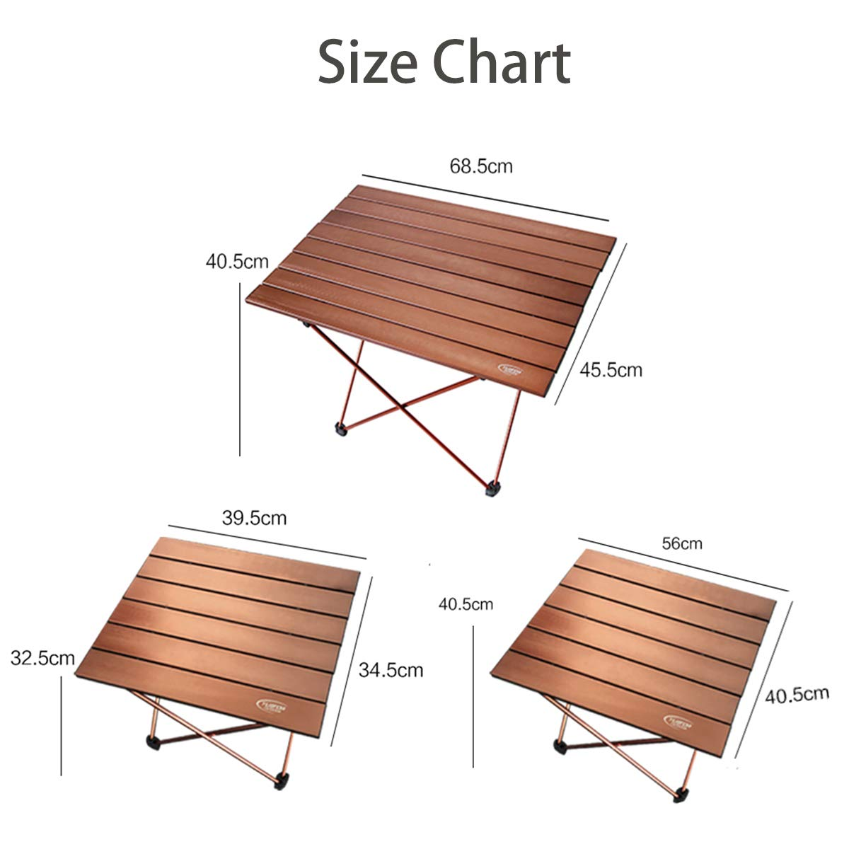 15.5 /× 13.6 Portable Folding Camping Table 2.2lbs Lightweight Compact Outdoor Table Desk up to 50.7lbs for Beach