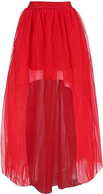 Babyonlinedress Mini falda del tul tutú rojo para fiesta estilo ...