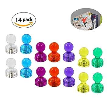 Tafelmagnete Whiteboard-Magnete Magnetfiguren ideal f/ür K/ühlschr/änke Whiteboards und Magnettafeln WINTEX 24 farbige Magnete