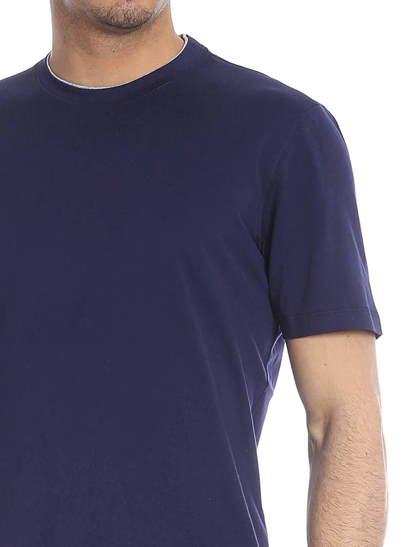 new style 08f93 f0c81 ... Brunello Cucinelli Men s M0T617423CD325 blueee Cotton Cotton Cotton  TShirt 478769